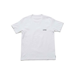 "SPICE COLOR PRINT TEE ""COFFEE"" -  WHITE"
