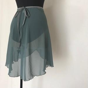 """◇""""Tatiana"""" Ballet Wrap Skirt - Verde Azul [Sheer]( ヴェルデ アズール [シアー])"""