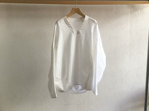 "brusco.k""U neck turtle smock white(cotton/linen)オックスフォード"""