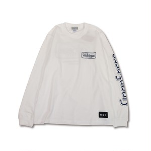 GOODSPEED equipment EVILACT(イーブルアクト) / GOODSPEED equipment Logo L/S T's(white)