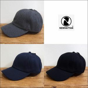 NEWHATTAN ニューハッタン ウールブレンドキャップ ベースボールキャップ 帽子 フラノ ウール 男女兼用 NWHT-H2230