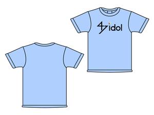 47idol 公式Tシャツ【ライトブルー・ロゴ大】
