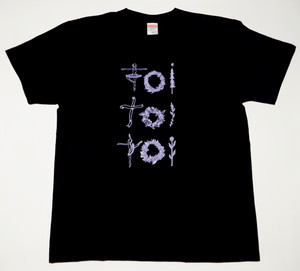 Tシャツ ブラック × ラベンダー (バレリーナver.)