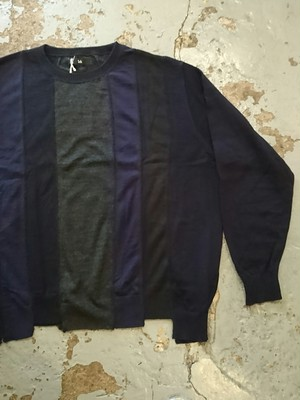 "ink ""LOOSE KNIT"" NAVY COLOR"