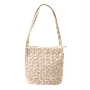 花刺繍ショルダーbag