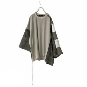 Wide-T-shirts mut(light beige/brown)