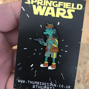 "THUMBS""Otto x Springfield Wars Pin Badge"""