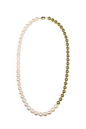 Combi Pearl Necklace | GOLD