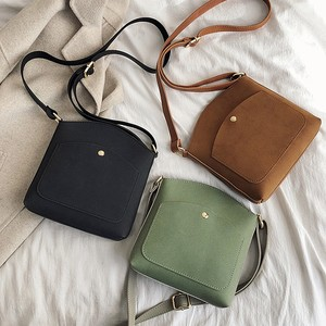 【小物】色違い3枚組ファッションPU斜め掛け切り替えファスナー無地ショルダーバッグ