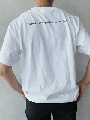 For natural disaster【WHITE】charity T shirt 7.4oz 【次回発注日:10/31】