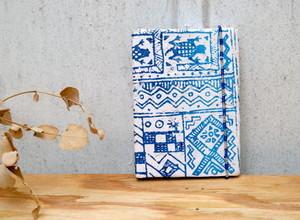 アフリカンハンドメイドの ミニノートブック  【送料無料】