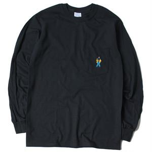 「R.O.T」ロングスリーブポケットTシャツ(BLACK)
