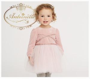 豪華 可愛い 残り僅か ビジュー ベロア 赤ちゃん 洋服 ベビー服 キッズ用 キッズワンピ キラキラ ピンク ストーンつき
