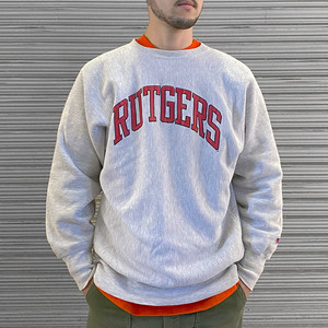 "90's Champion Reverse Weave Sweat ""Rutgers"""