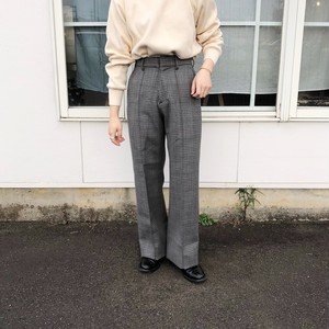 WOOL CHECK TROUSERS | LENO