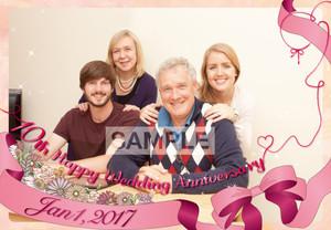 結婚記念日用ポスター_2 縦長 横長 A1サイズ