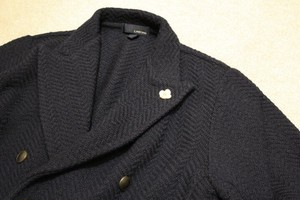 LARDINI Double-breasted Knit Jacket
