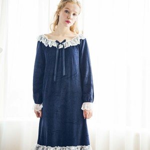 classical velvet night dress ZBL769