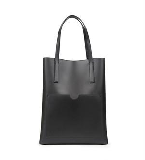 メンズ縦長トートバッグ。シンプルアイテムブラックカラー