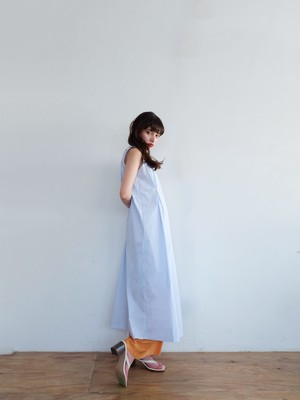tuck sun-dress(powder blue)