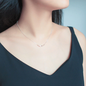 Silver 925 small stone silver necklace シルバー925 小粒 ストーン シルバー ネックレス