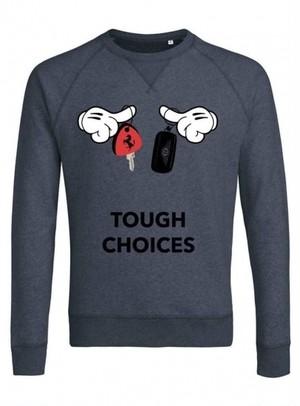 Trendy & Rare(トレンディ&レア) Sweatshirt Tough choices DARK HEATHER BLUE