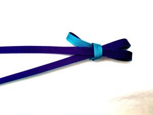 リバーシブル三分紐 紫×ターコイズブルー
