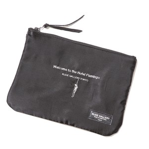 STUDIO POUCH - HOTEL FLAMINGO (BLACK) / RUDE GALLERY