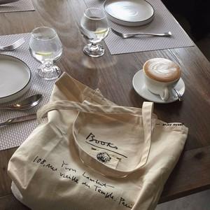 handwriting tote bag