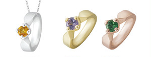 K10ベビーリング(GRACE)ネックレス/選べる誕生石&刻印無料