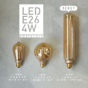 (非調光)E26 エジソンバルブ LED ノスタルジア ビッグチューブゴールド