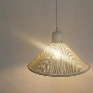 Punching Metal Shade Pendant Lamp / WHT 80's オランダ