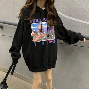 【レディース】ロンググラフィックセーター