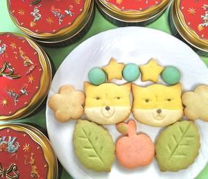 チベットスナギツネクッキー缶