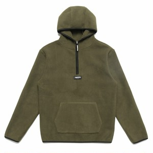 CHRYSTIE NYC OG Logo Polar Fleece Pullover Hoodie m.green L
