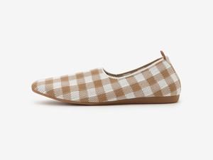 gingham check pattern / BEIGE &WHITE