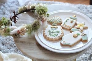 Baby花冠&アイシングクッキー《Aloha》