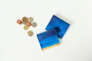 藍色の空のコインケース|受注制作
