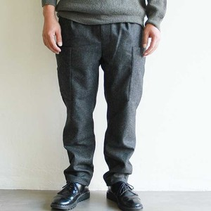 STILL BY HAND  【 mens 】 melton cargo pants