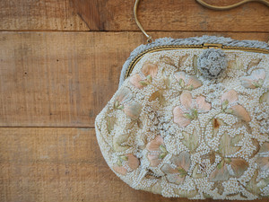 Made in France vintage beads & embroidery purse