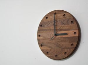 ウォルナット 掛け時計【ドット】