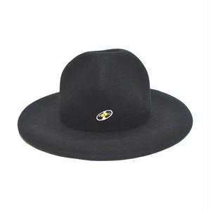 マウンテンハット(レコードワッペン) ブラック F 秋冬 山高帽  WATERFALL ユニセックス