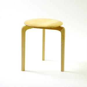 LISCIO スタックスツール(wood) (座面:メープル, 脚:メープル)