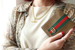 old GUCCI brown wallet