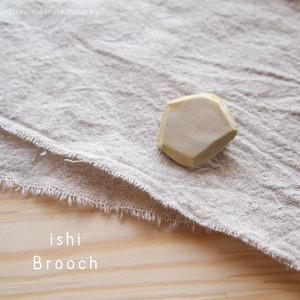 陶器ishiシリーズ*ブローチ