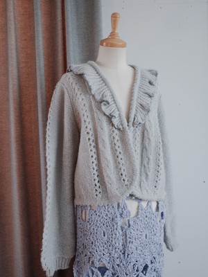 light feather cardigan