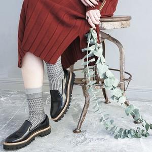 socks S-1 (geometric) グレー