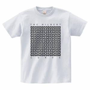 ヒルベルト曲線Tシャツ_アッシュ/The Hilbert Curve T-shirt (Ash)