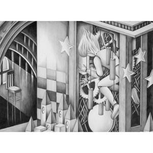 手描きイラスト「モノクロームイラスト」(鉛筆画)制作