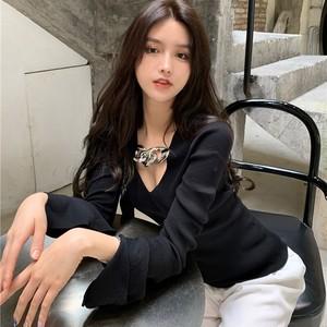 【トップス】無地ファッションセクシーカジュアルレディースTシャツ41436737